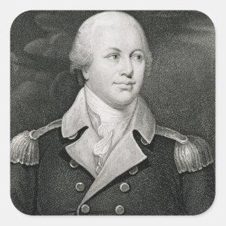 General importante Nathaniel Greene (1742-86), Pegatina Cuadrada