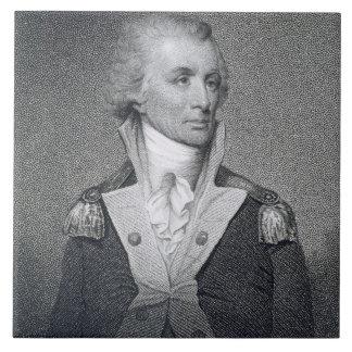 General importante Thomas Sumter (1734-1832) grabó Azulejo Cuadrado Grande