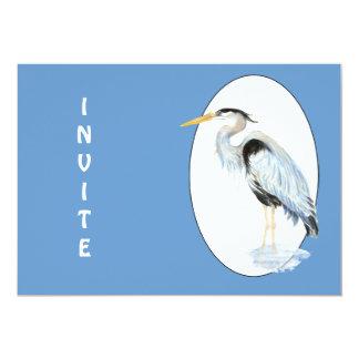 General invite, modifique al pájaro de la garza invitación 12,7 x 17,8 cm