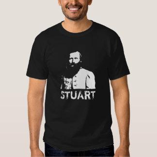 General J.E.B. Stuart -- Black and White T-shirt