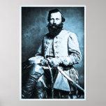 General J.E.B. Stuart Civil War Hero Poster
