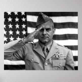 General James Doolittle Saluting -- WW2 Poster