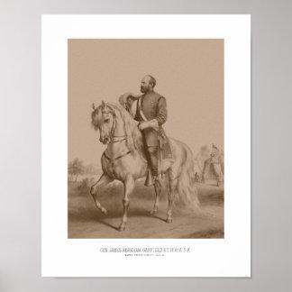 General James Garfield -- Guerra civil Póster