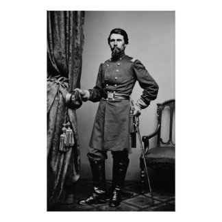 General James Jourdan - Civil War Poster