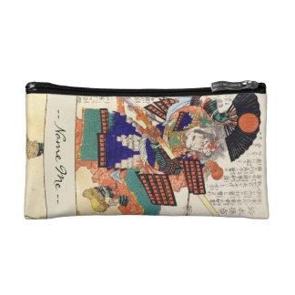 General japonés del guerrero del samurai del vinta