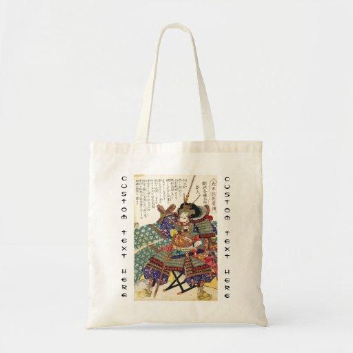 General japonés del guerrero del samurai del vinta bolsa tela barata