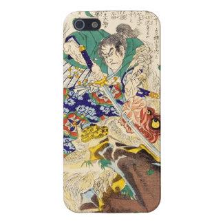 General japonés del guerrero del samurai del vinta iPhone 5 carcasa