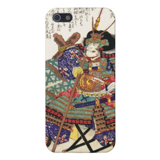 General japonés del guerrero del samurai del vinta iPhone 5 funda