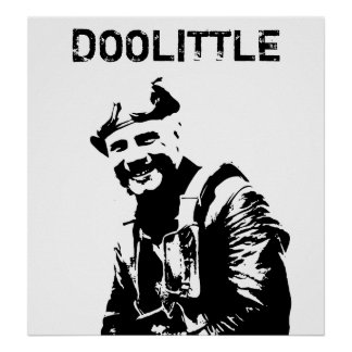 General Jimmy Doolittle -- Black and White Posters