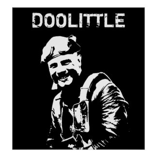 General Jimmy Doolittle -- Black and White Print