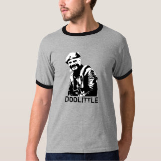 General Jimmy Doolittle -- Black and White T-Shirt