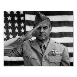 General Jimmy Doolittle Saluting Poster