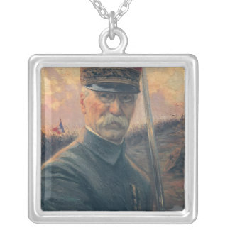 General Joseph Gallieni Silver Plated Necklace