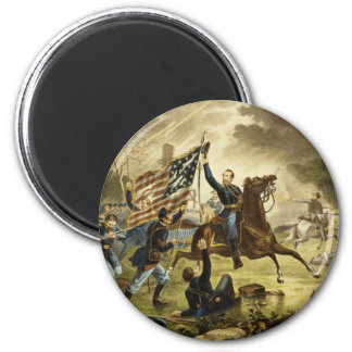 General Kearny's Charge in the Battle of Chantilly 2 Inch Round Magnet