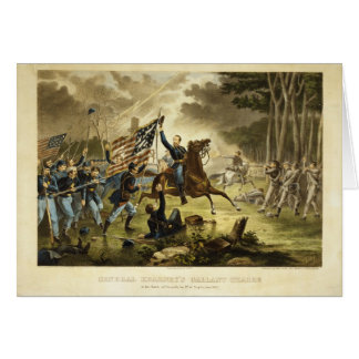 General Kearny's Charge in the Battle of Chantilly Card