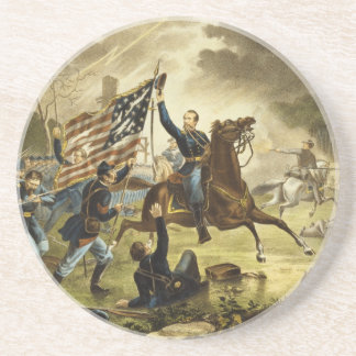 General Kearny's Charge in the Battle of Chantilly Beverage Coaster