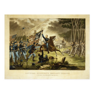 General Kearny's Charge in the Battle of Chantilly Postcard