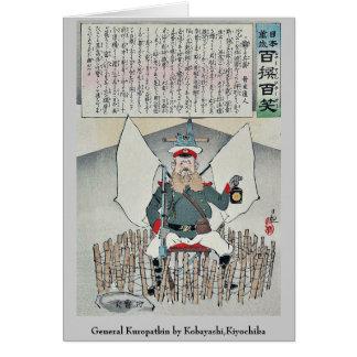 General Kuropatkin por Kobayashi, Kiyochika Tarjeta Pequeña