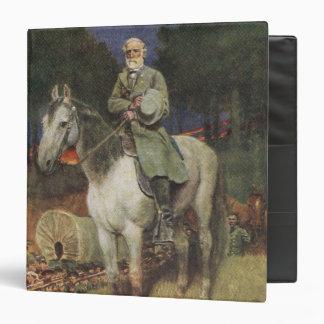 """General Lee en su cargador famoso, 'Traveller Carpeta 1 1/2"""""""