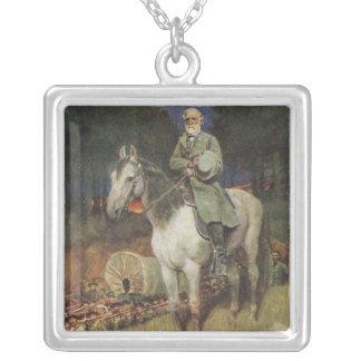 General Lee en su cargador famoso, 'Traveller Colgante Cuadrado