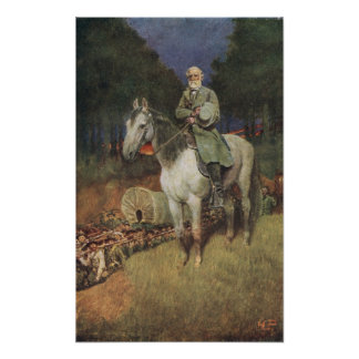 General Lee en su cargador famoso, 'Traveller Posters