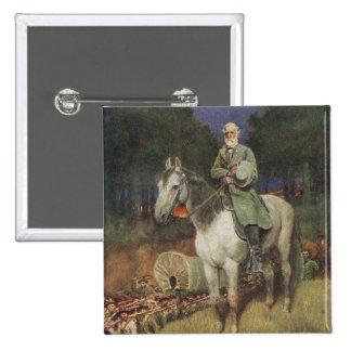 General Lee en su cargador famoso, 'Traveller Pin Cuadrado