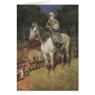 General Lee en su cargador famoso, 'Traveller Tarjeta De Felicitación