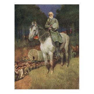 General Lee en su cargador famoso, 'Traveller Tarjeta Postal