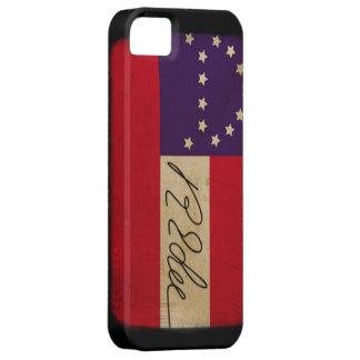 General Lee Headquarters Flag con la firma iPhone 5 Case-Mate Coberturas