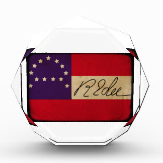 General Lee Headquarters Flag with Signature Acrylic Award