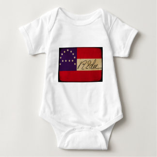 General Lee Headquarters Flag with Signature Baby Bodysuit