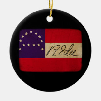 General Lee Headquarters Flag with Signature Ceramic Ornament