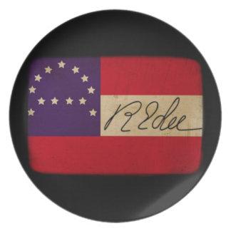 General Lee Headquarters Flag with Signature Melamine Plate
