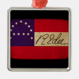 General Lee Headquarters Flag with Signature Metal Ornament