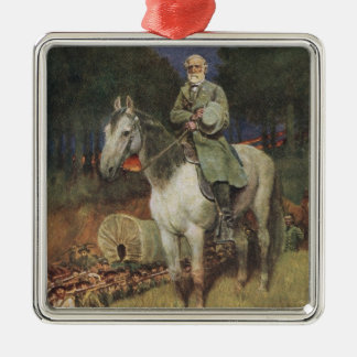 General Lee on his Famous Charger, 'Traveller' Metal Ornament