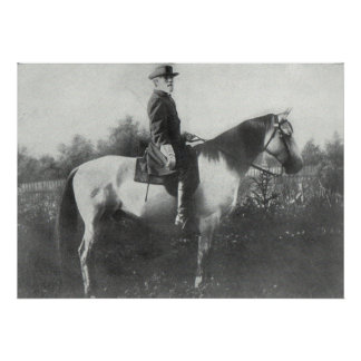 General Lee riding Traveler Poster