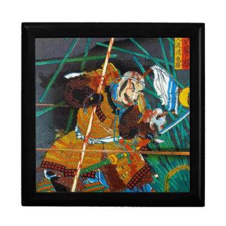 General legendario oriental fresco del samurai del caja de joyas