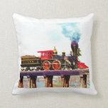 General Locomotive Throw Pillow