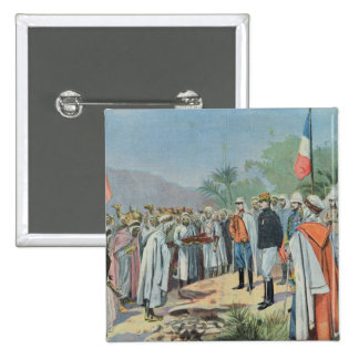 General Lyautey received surrender of rebel 2 Inch Square Button