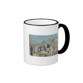 General Lyautey received surrender of rebel Ringer Coffee Mug