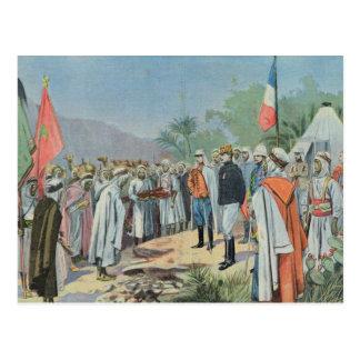 General Lyautey received surrender of rebel Postcard
