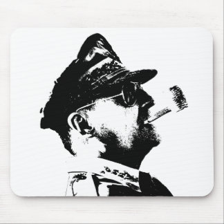 General MacArthur -- Black and White Mousepads