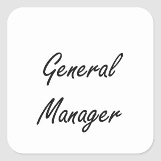 General Manager Artistic Job Design Square Sticker