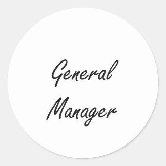 General Manager Artistic Job Design Classic Round Sticker