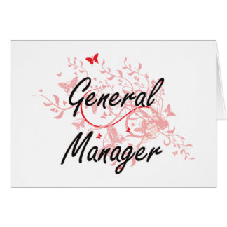 General Manager Artistic Job Design with Butterfli Card