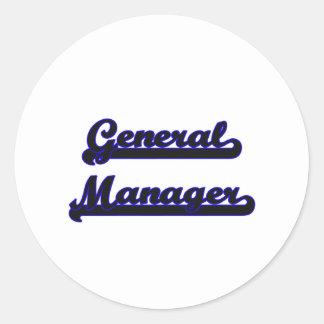 General Manager Classic Job Design Classic Round Sticker