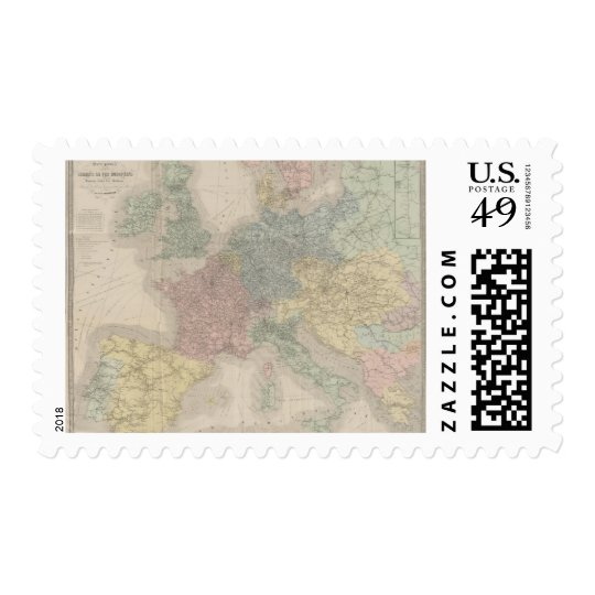 General map of European Railways Postage