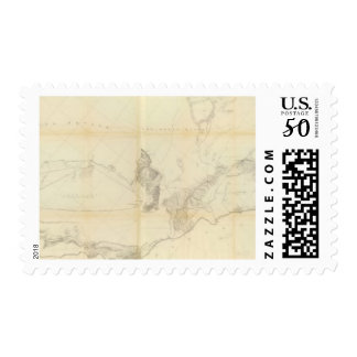 General Map of Explorations and Surveys Postage