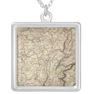 General map of Gaul Silver Plated Necklace