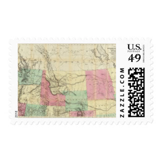 General Map of the North Pacific States Postage